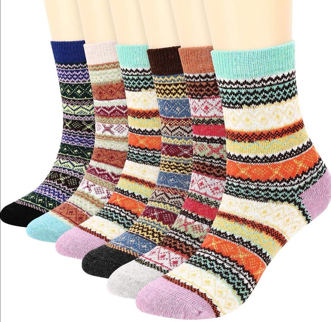 6 pares de calcetines estilo vintage, cómodos para adultos.(2 Modelos)