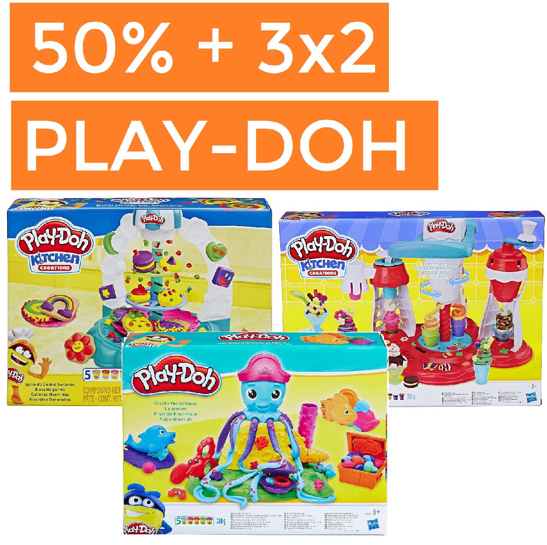Selección Play-Doh hasta 50% + 3x2 en todo