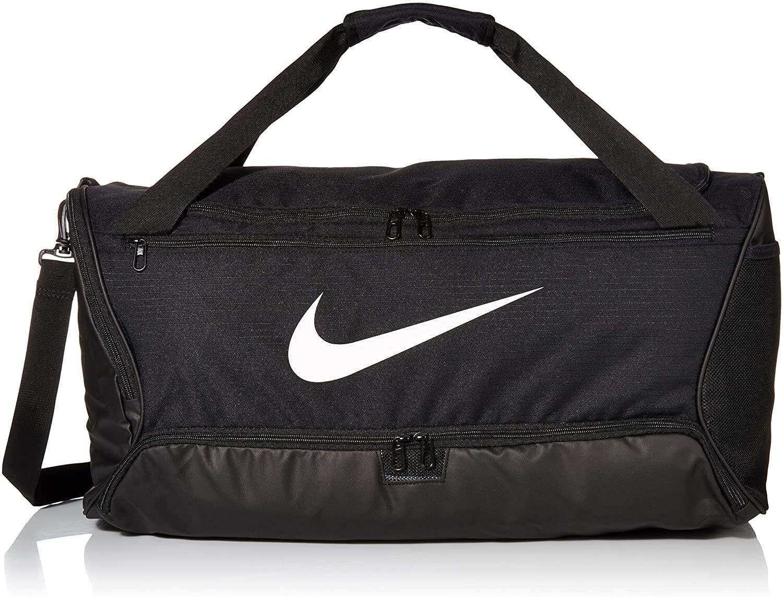 Nike Nk Brsla M Duff-9.0 (60l) Gym Bag, Unisex Adulto, Black/Black/(White), MISC
