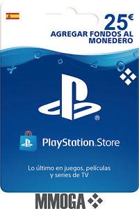 Recopilación de Tarjeta PlayStation PSN Prepago en Ebay.