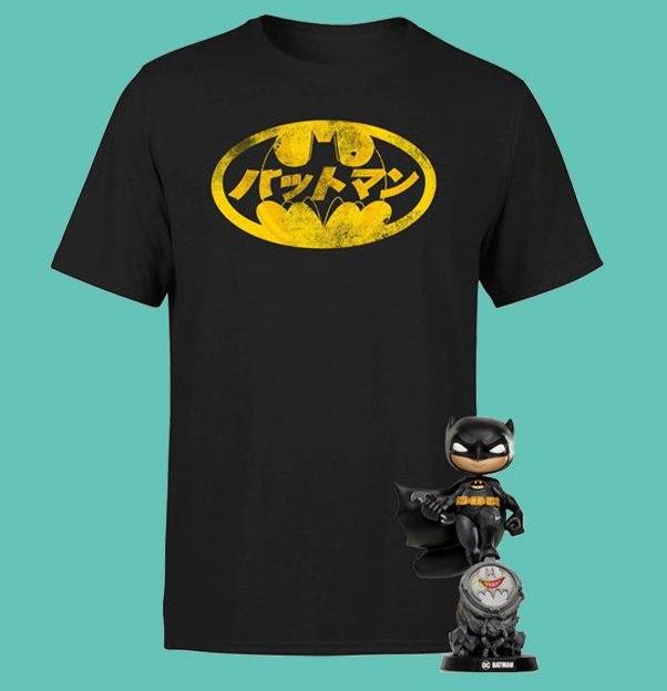Pack especial Batman: 17,99 €!: camiseta oficial Batman y una figura exclusiva
