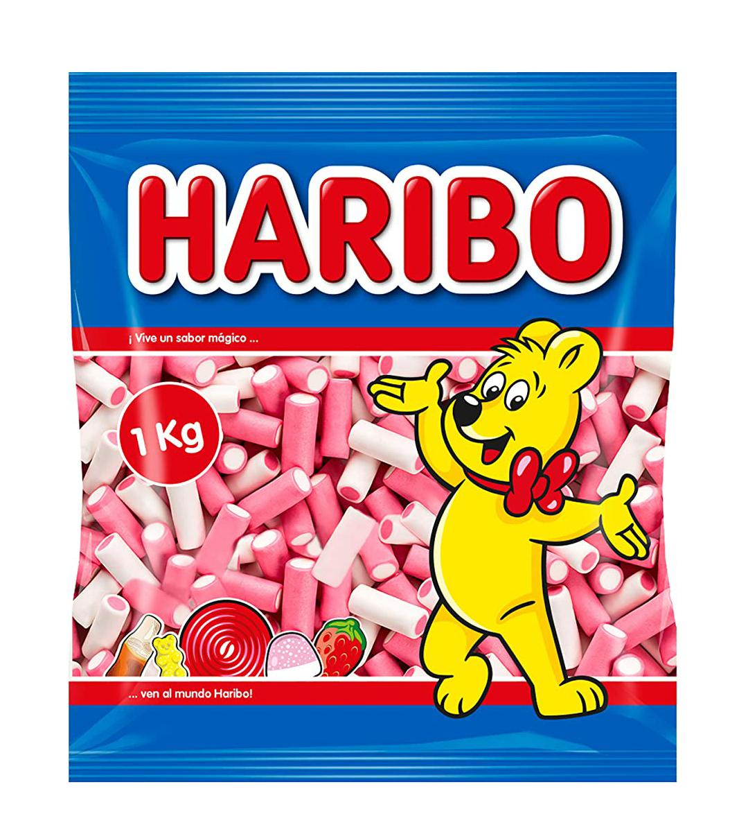1 kilo Haribo Pink&white!!