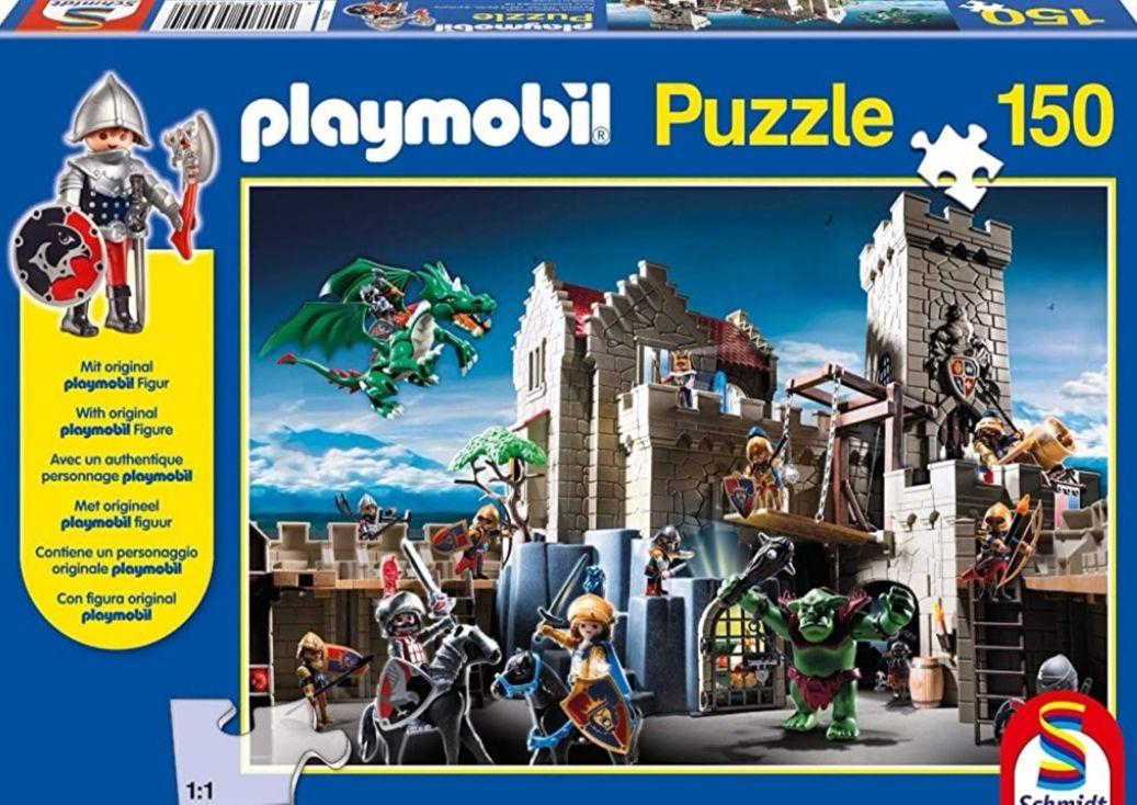 PUZZLE 150 PIEZAS PLAYMOBIL (INCLUYE FIGURA) 2 MODELOS.