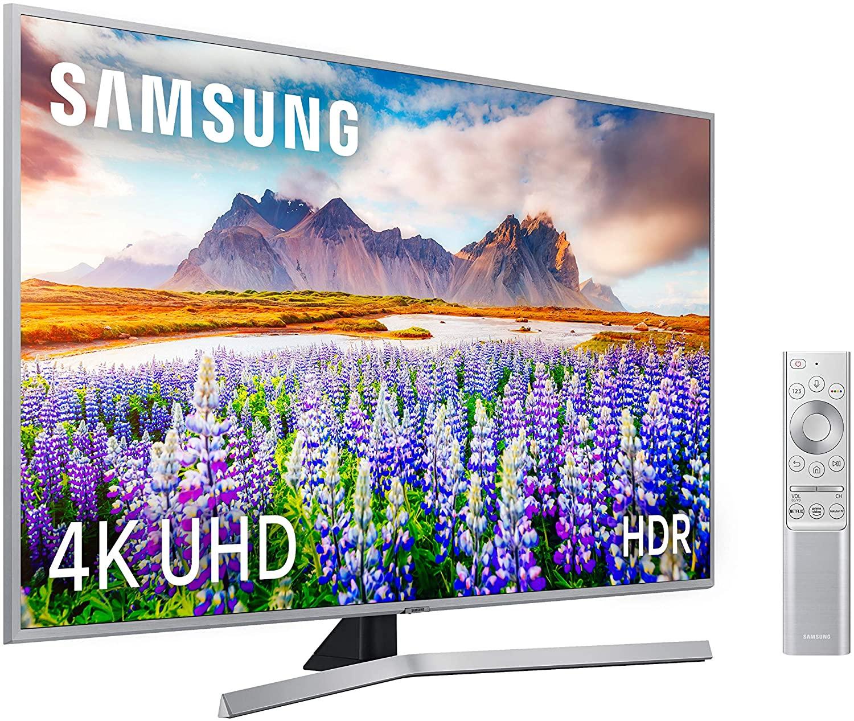 """TV Samsung 4K UHD 65RU7475 - Smart TV de 65"""" Wide Viewing Angle, HDR10+, Procesador 4K, Premium One Remote, Apple TV y compatible Alexa"""