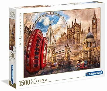 Puzzle Londres estilo vintage 1500 piezas
