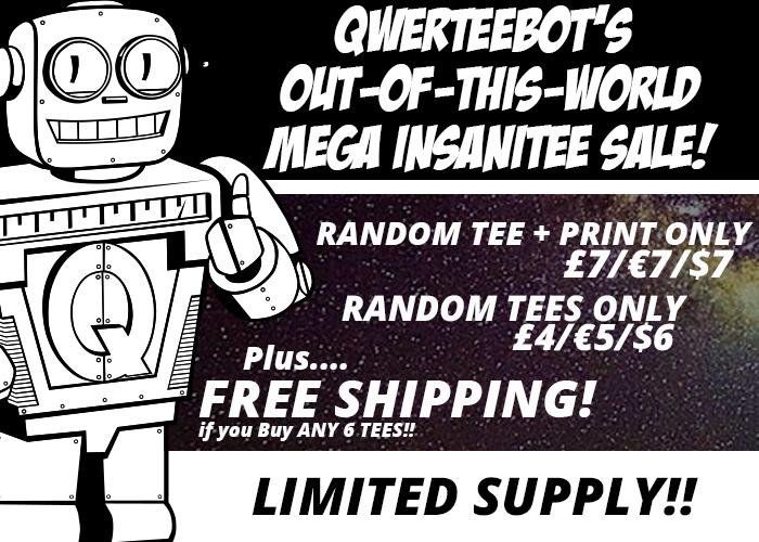 Camisetas con diseño sorpresa en Qwertee