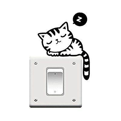 Pegatina de gato para interruptor