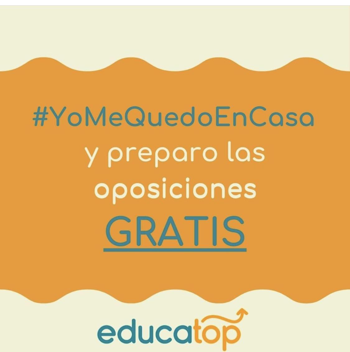Educatop. Acceso online durante un mes a cursos y oposiciones gratis. Y 70% en el resto de mensualidades!!!!!