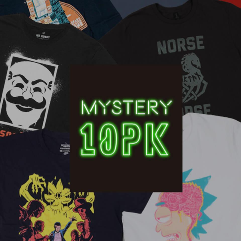 Pack Misterioso de 10 Camisetas y un Funko Pop! Gratis (a 3,5€ la camiseta)