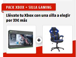 Consola - Microsoft Xbox One X, 1 TB, Negro + Star Wars: Jedi Fallen Order + Silla Gaming Woxter Stinger Station Alien