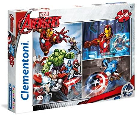 Set de 3 puzzles de 48 piezas cada uno Avengers