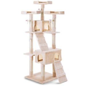 Árbol para gatos - Rascador, Centro de juegos y descanso de 170 cm de altura.