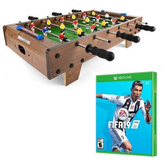 Pack FIFA 19 Xbox One + Futbolín de Mesa