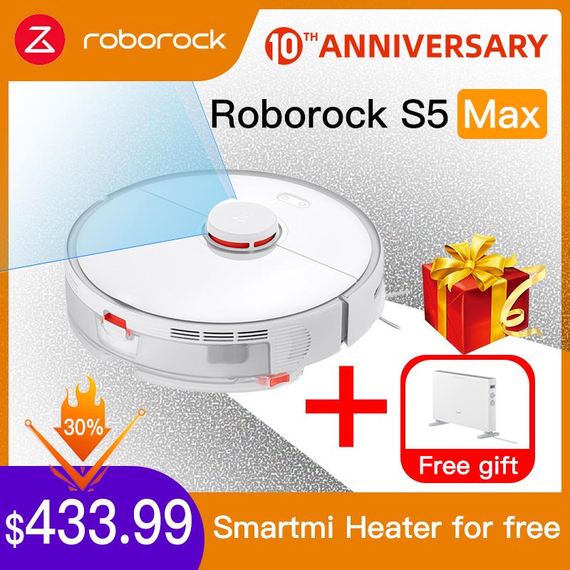 Pack Apirador Xiaomi Roborock S5 MAX + Calefactor Xiaomi GRATIS y Desde ESPAÑA