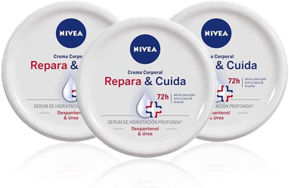 Pack de 3 botes de crema NIVEA Repara & Cuida (3 x 300 ml) 900ml