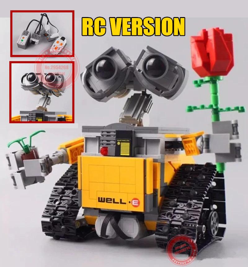 Robot radiocontrol Wall-e tipo Lego de 687 piezas