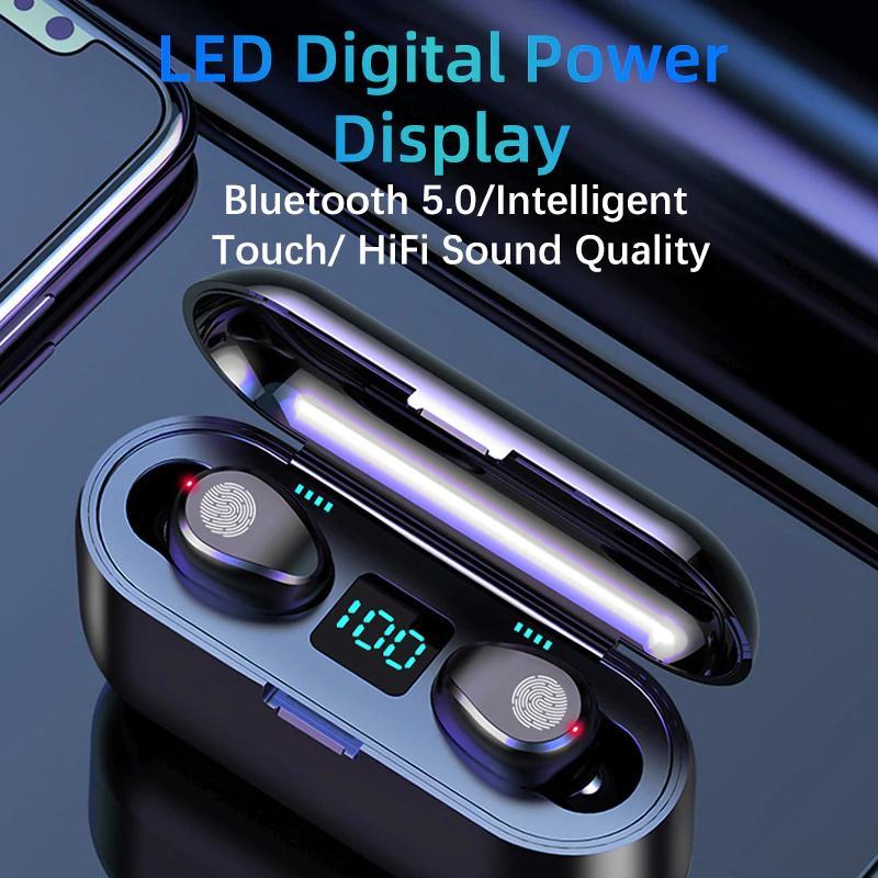 Auriculares Inalámbricos Táctiles F9 Bluetooth 5,0 TWS HIFI Mini