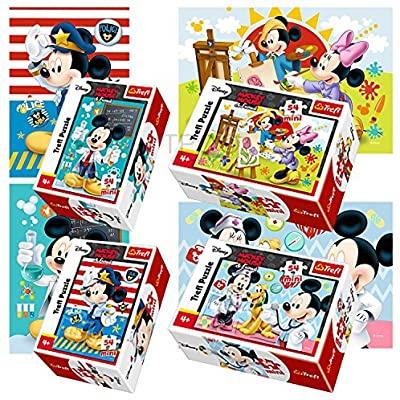 4 mini puzzles Disney con cajas individuales 54 piezas