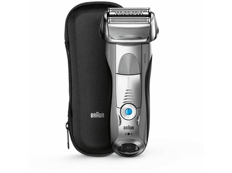 Afeitadora - Braun Serie 7 7893S, 4 elementos de corte, 5 modos, Tecnología sónica