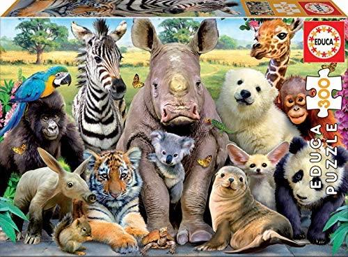 Puzzle animales 300 piezas marca educa