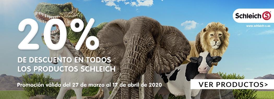 20€ de descuentos en todos los productos Schleich.