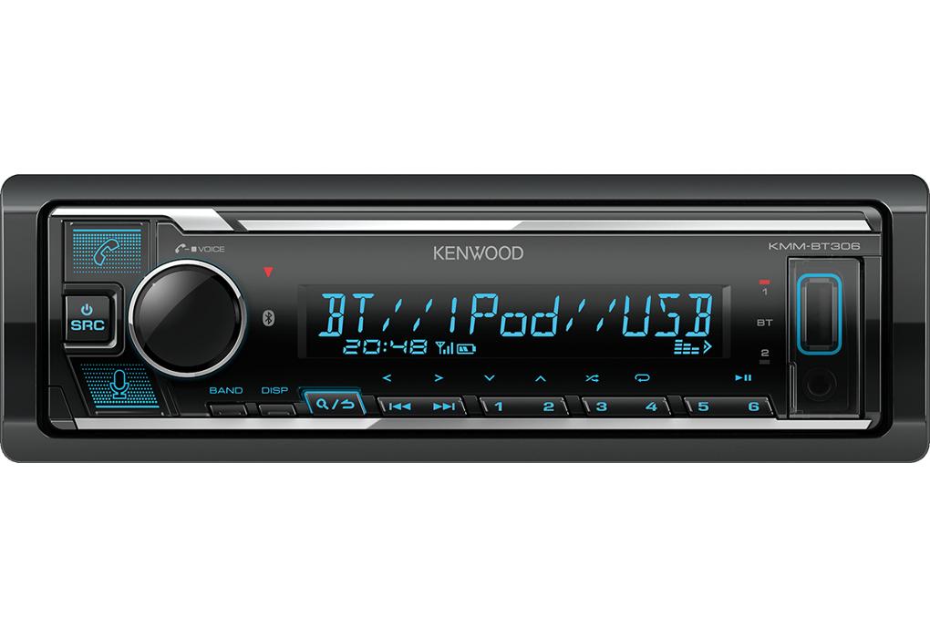 Autoradio Kenwood KMM-306BT 1DIN bluetooth dual, USB, 4x50W iluminación regulable