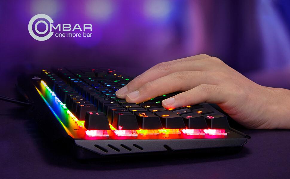 OMBAR Teclado Mecánico Gaming MÍNIMO HISTÓRICO