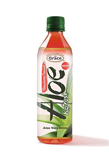 Bebida Aloe Vera con Fresa - Paquete de 12 x 500 ml [Total: 6000 ml]