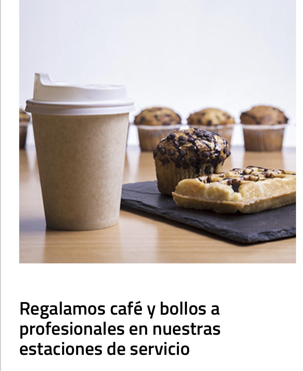 Café y bollos gratis a Sanitarios, Fuerzas y cuerpos de seguridad, camioneros, etc.