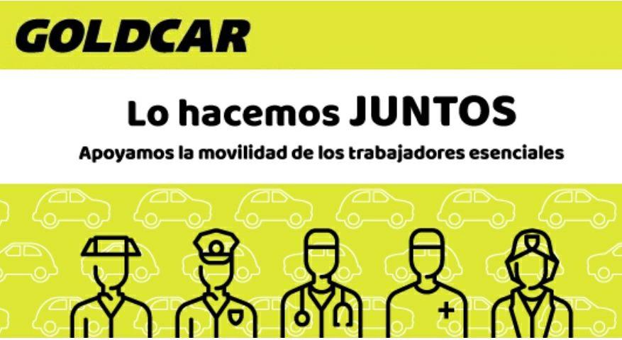 Vehículos de alquiler gratis para trabajadores de sectores esenciales.