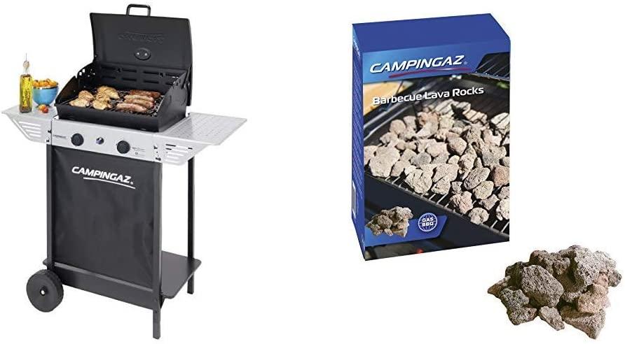 Pack Barbacoa Gas Campingaz Xpert 100 L Plus Rocky para Piedra Volcanica + Piedras lava, 3 kg