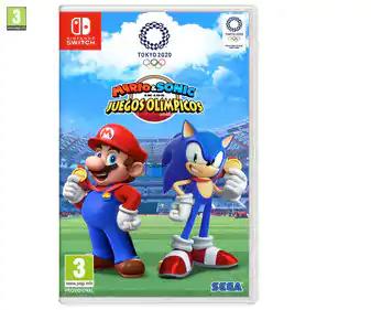 Videojuego Mario & Sonic JJOO Tokyo para Nintendo Switch. Género: deportes, minijuegos