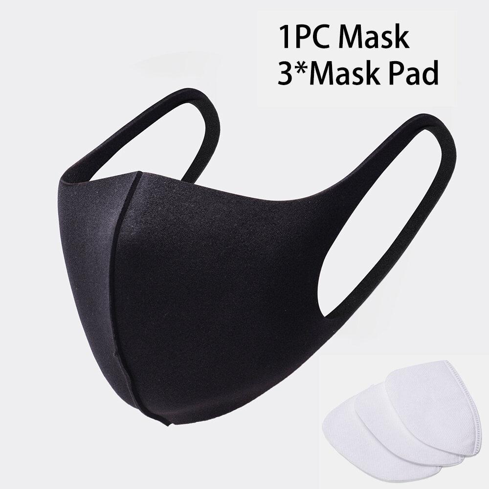 Pack de mascarilla con 3 Filtros Pcs PM2.5 de algodón
