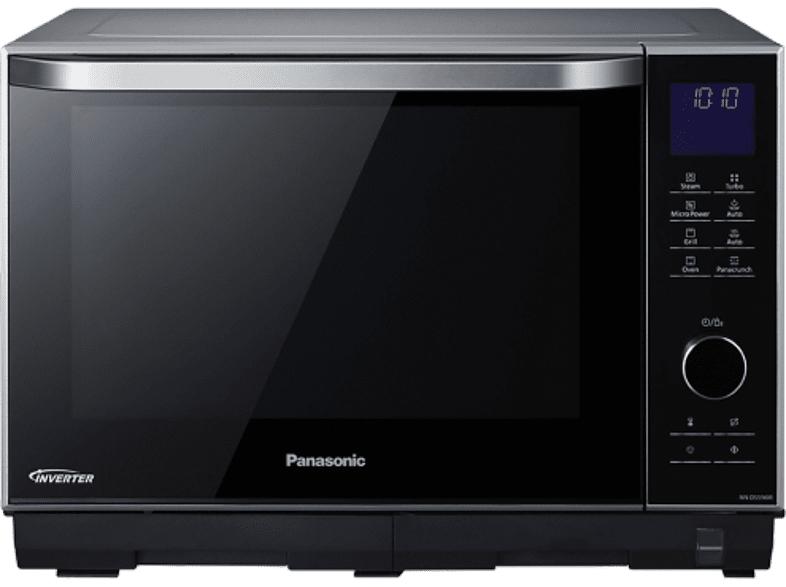 Horno microondas - Panasonic NN-DS596MEPG 27L, Inverter, Plata