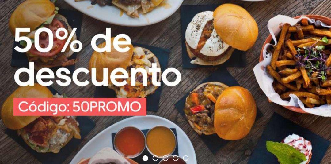 Descuento 50℅ Uber Eats (mínimo 12€)