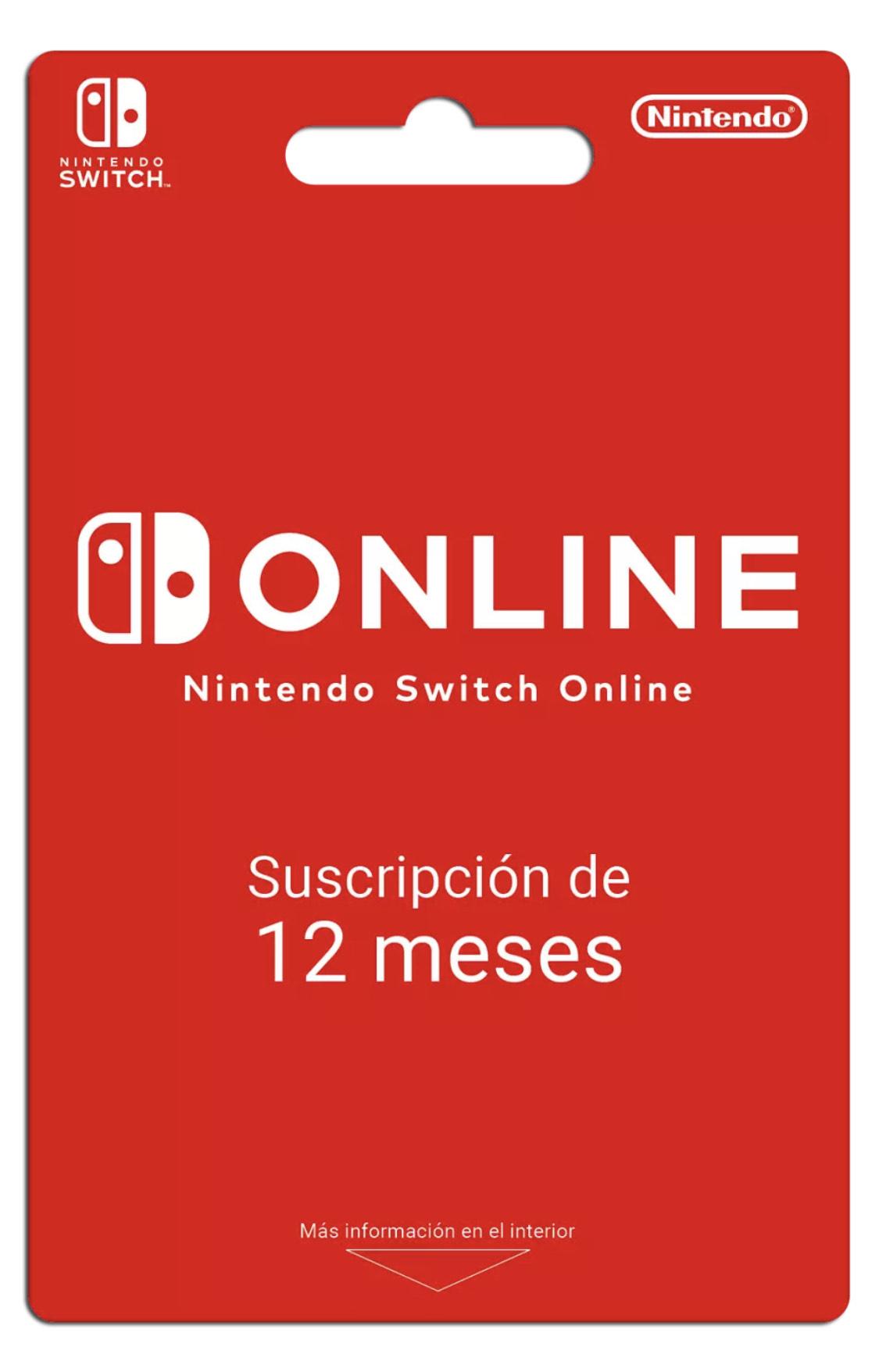 Suscripción Online para Nintendo Switch (1 año)