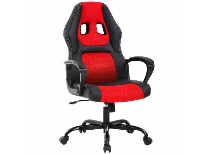 Silla Gaming Oficina Racing Escritorio PC y Videojuegos Negro Rojo