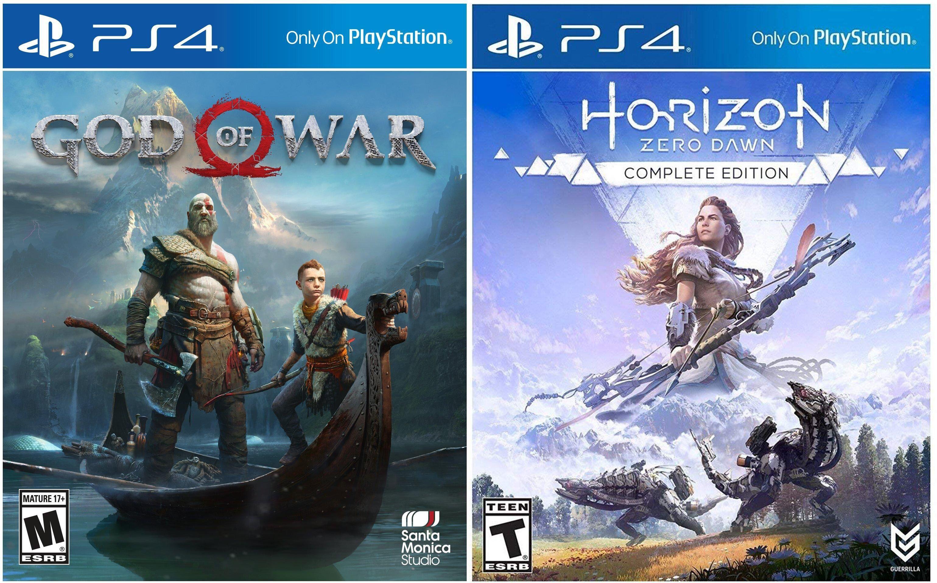 God of War y Horizon por 14,99€ cada uno