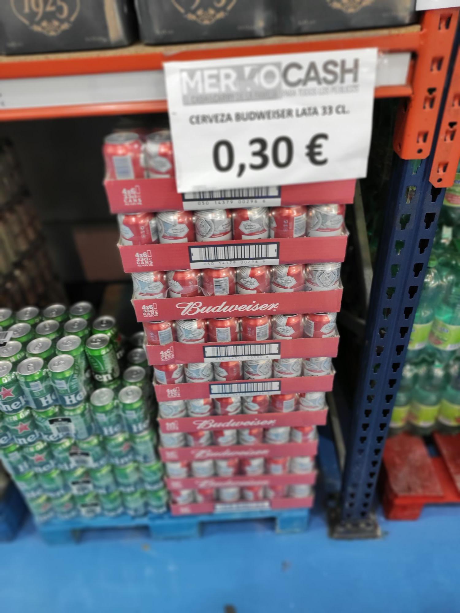Cerveza budweiser - Merkocash