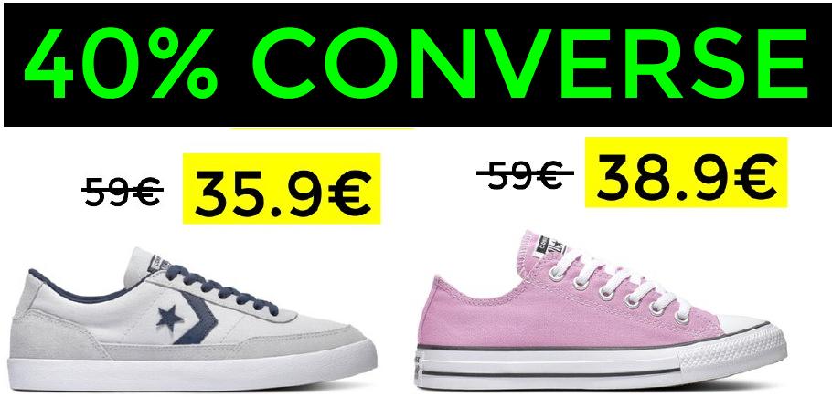 Hasta 40% en Converse + Envío gratis