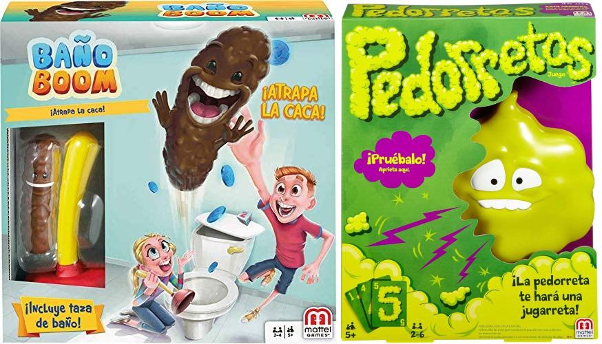 Juego de Mesa Baño Boom, ¡Atrapa la Caca! 18,39€ y Pedorretas por 17,15€