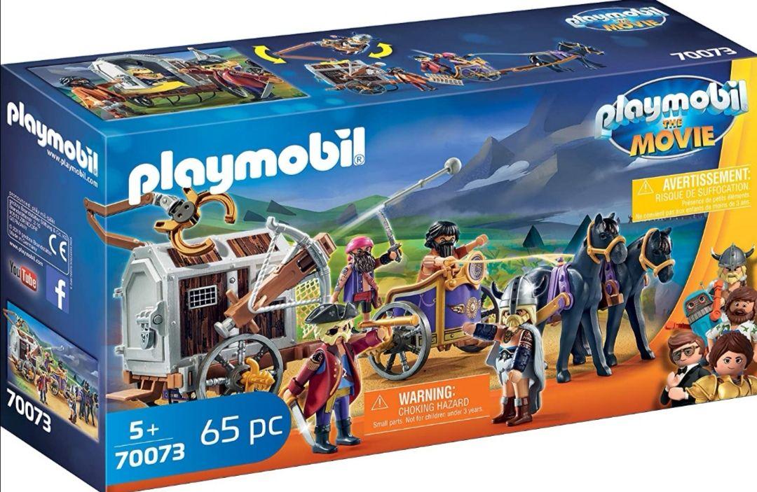 PLAYMOBIL: THE MOVIE Charlie con Carro Prisión. Juego de 65 piezas: 1 Carro prisión, 1 Charlie, 3 piratas, 2 caballos, 58 accesorios.