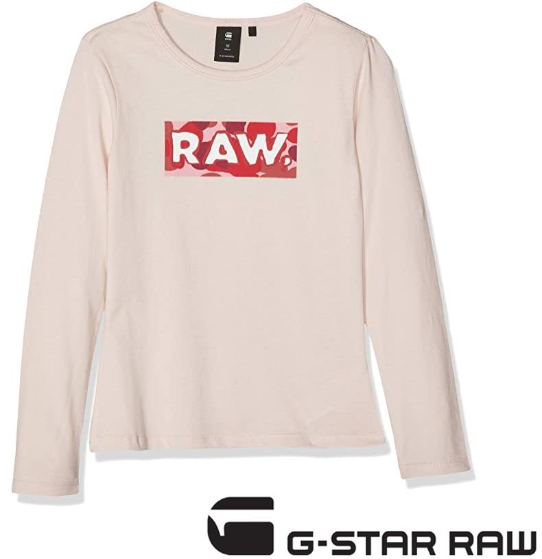 G-STAR RAW Camiseta de Manga Larga para Niñas (o padres modernos)