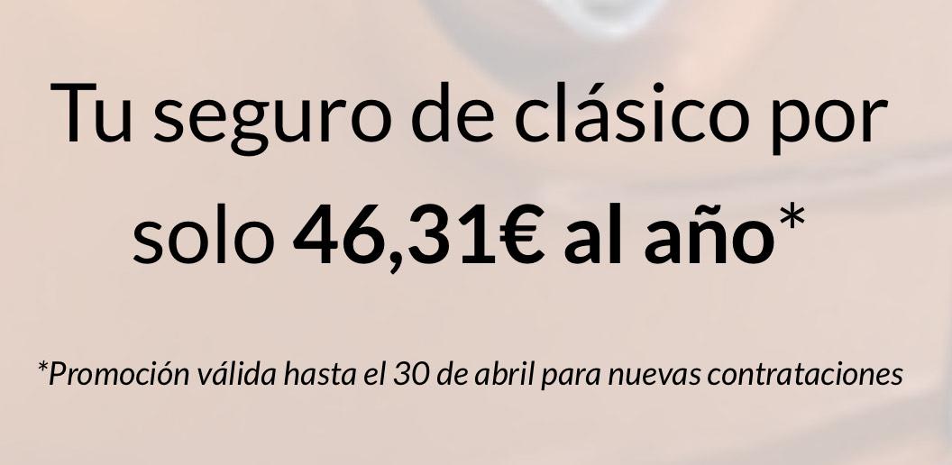 Seguro a terceros de coche clásico por 46,31€ / Año