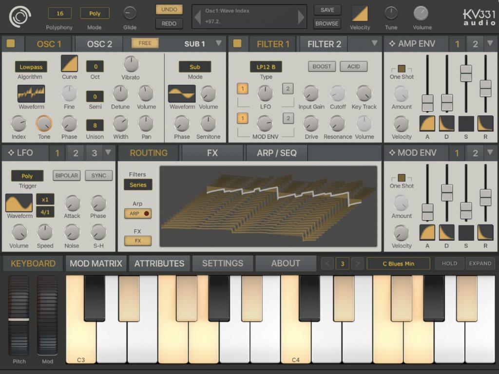 Wavetable SynthMaster One para iOS
