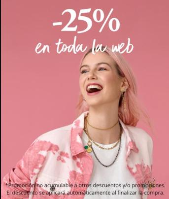 Descuento 25% en web