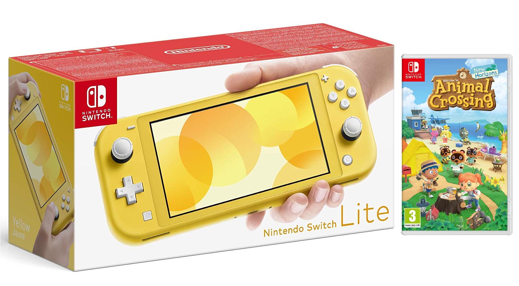 Nintendo Switch Lite + Animal Crossing New Horizons Físico