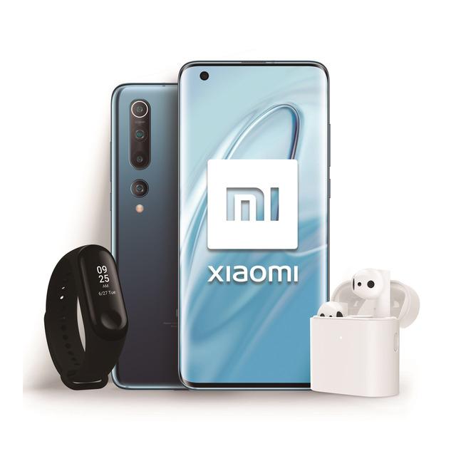 Pack Xiaomi Mi 10 5G 8+128 GB Twilight Grey + Mi Band 3 + Auriculares True Wireless Earphone 2 (descuento al añadir a cesta)