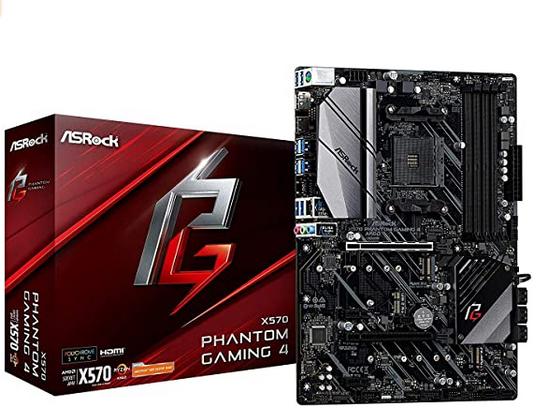 Asrock X570 Phantom Gaming 4 - Placa Base (AMD, Zócalo AM4, AMD Ryzen)