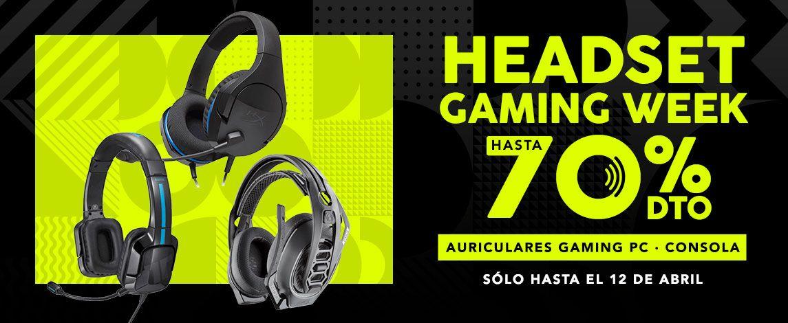 Hasta 70%dto - Headset Gaming Week en Game
